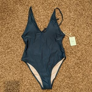 NWT Cupshe Open Back One Piece Swimsuit Size S